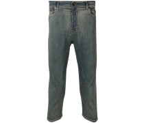 Cropped-Jeans mit Acid-Wash-Effekt