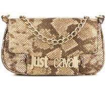 snakeskin effect shoulder bag