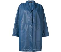 Einreihiger Mantel mit Laser-Cuts