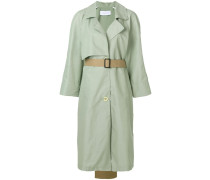 contrast tail trench coat