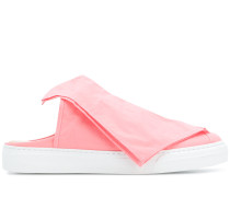 foldover front slip-on sneakers