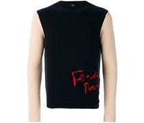 cashmere colour-block sweater