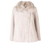Mantel mit Fuchs- und Nerzpelz