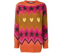 Jacquard-Pullover mit Mustermix