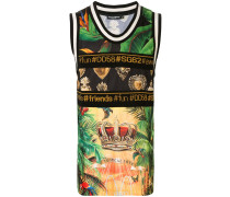 "Trägershirt mit ""Tropical DG King""-Print"