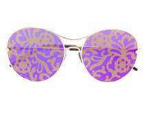Sonnenbrille mit geblümten Gläsern