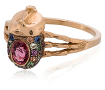 Atum ring with pink sapphire