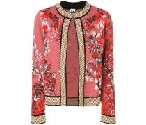 Jacke mit floralem Muster