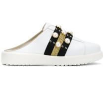 Mule-Sneakers mit Perlenverzierung