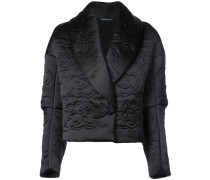 Cropped-Jacke mit Schalkragen