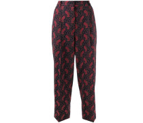 Cropped-Hose mit Paisleymuster