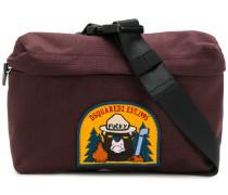 patch detail shoulder bag