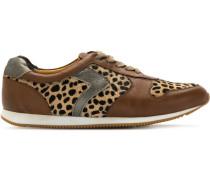 leopard print panels sneakers