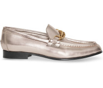 The Metallic Leather Link Loafer
