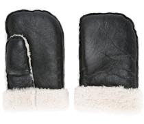 shearling-hem mittens