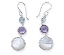 Lollitini 3-Stone Drop Earrings in Sterling
