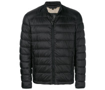 zip front puffed jacket