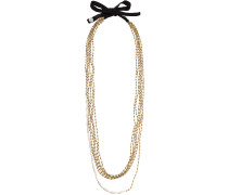 Extralange Halskette mit Kristallen