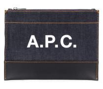 A.P.C. Clutch mit Reißverschluss