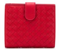 intrecciato leather bi-fold wallet