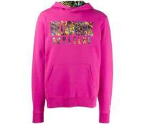 logo print hoodie