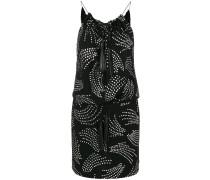 Kleid mit Metallic-Stickerei