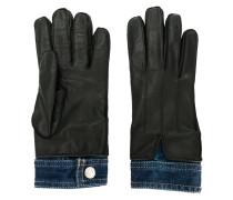 Lederhandschuhe mit Jeanseinsatz