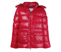 fur trim hood padded jacket