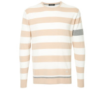 Gestreifter Pullover in Colour-Block-Optik