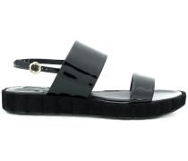 sling back double-strap sandals