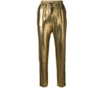 metallic track trousers