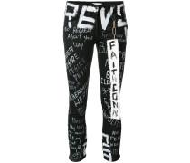 Jeans mit Graffiti-Print