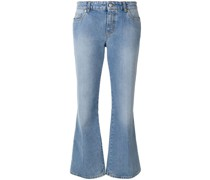 Cropped-Jeans mit ausgestelltem Bein
