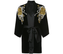 embroidered belted night-gown