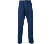 drawstring straight leg jeans