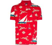 Poloshirt mit Boot-Print