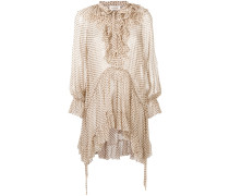 spotted pussy bow blouse