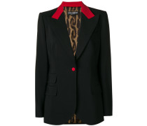 red trim blazer