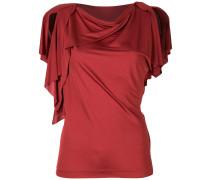 Drapiertes T-Shirt aus Seide