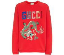 Sweatshirt mit Drachen-Print