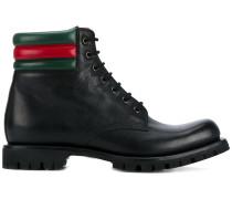 Military-Stiefel mit Webstreifen