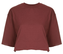 Cropped-T-Shirt mit Fransensaum