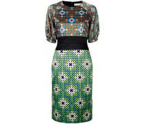 Kombi-Kleid mit geometrischem Muster