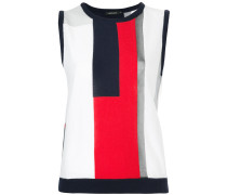 colour-block sleeveless sweater