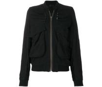 gathered detail bomber jacket