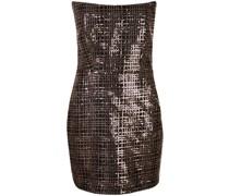 strapless sequined mini dress