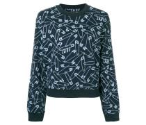 Sweatshirt mit Sicherheitsnadel-Print