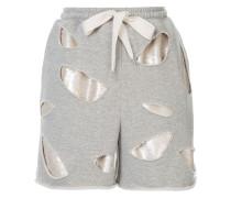 Distressed-Shorts mit Pailletten