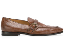 textured buckle loafers