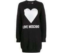 Langes Sweatshirt mit Herz-Print